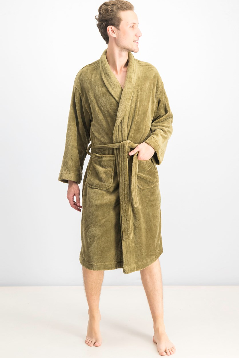 Ultra Plush Robe With Pockets, Olive