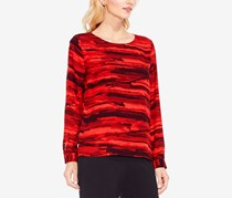 Women's Muses Print Tiered Blouse, Crimson