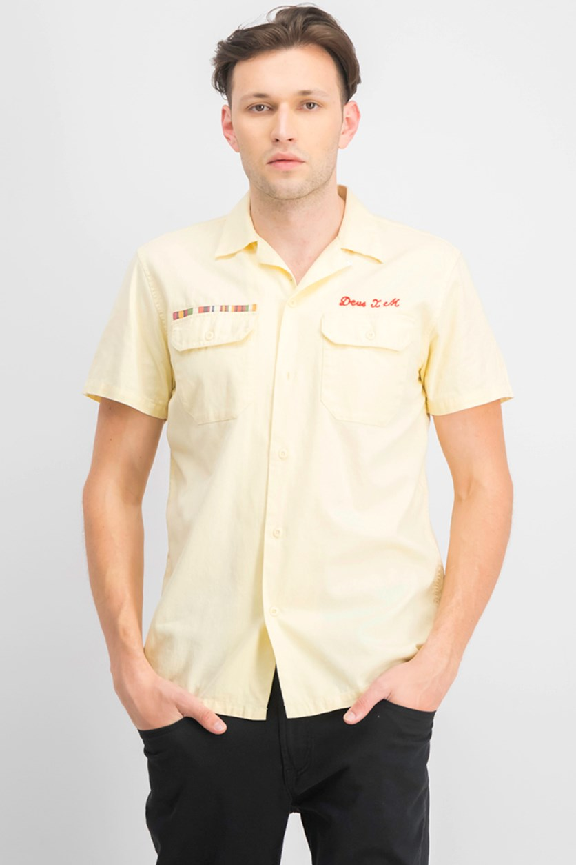 Men's Castillo Graphic Shirt,  Yellow