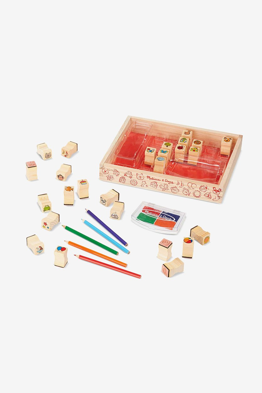 Wooden Favorite Things Stamp Set, Natural Combo