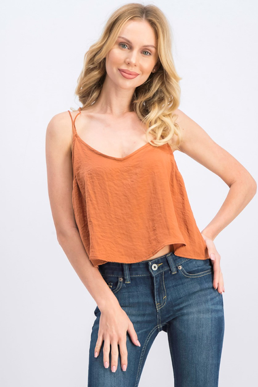 Women's Strappy Cami Tops, Brown
