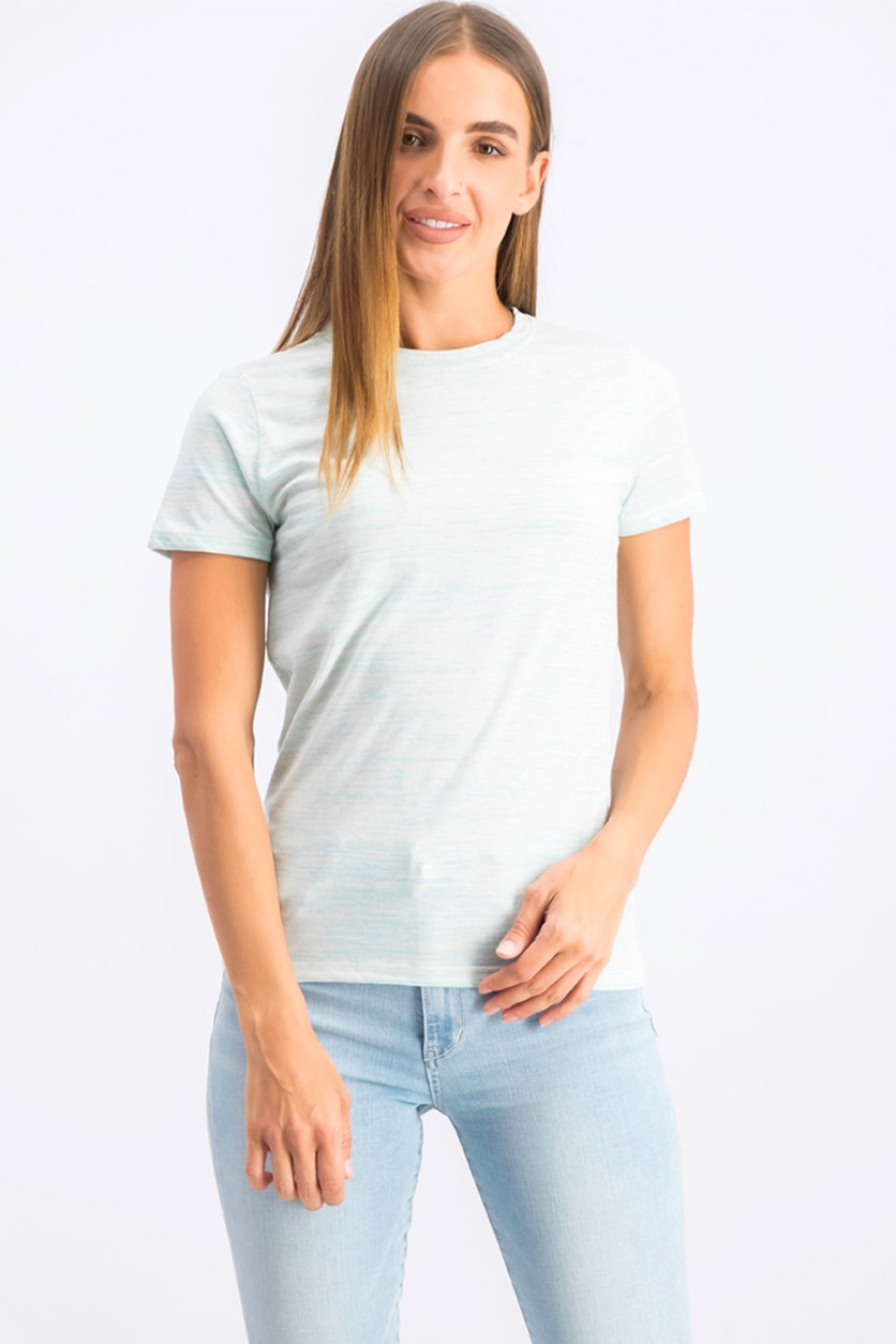 Women's Heather Pullover Tops, Turquoise