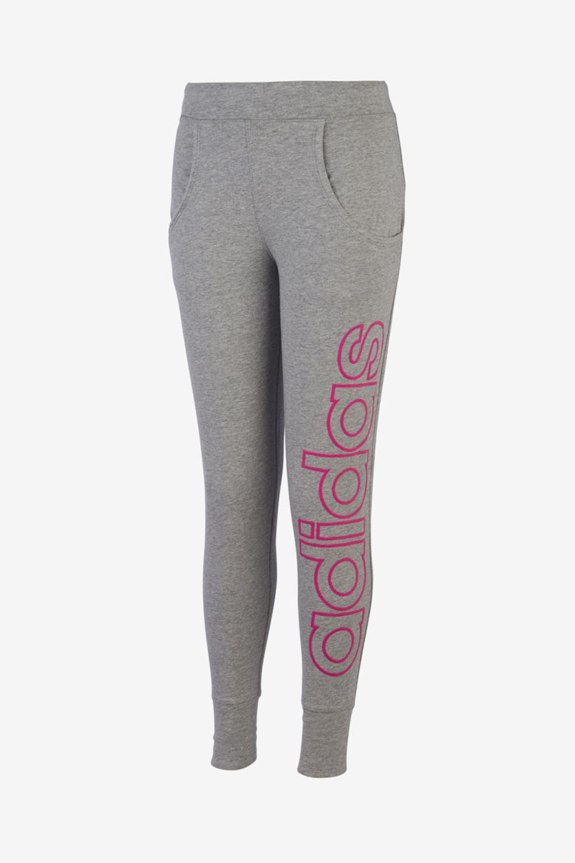 Big Girls Linear Jogger Pants, Grey Heather