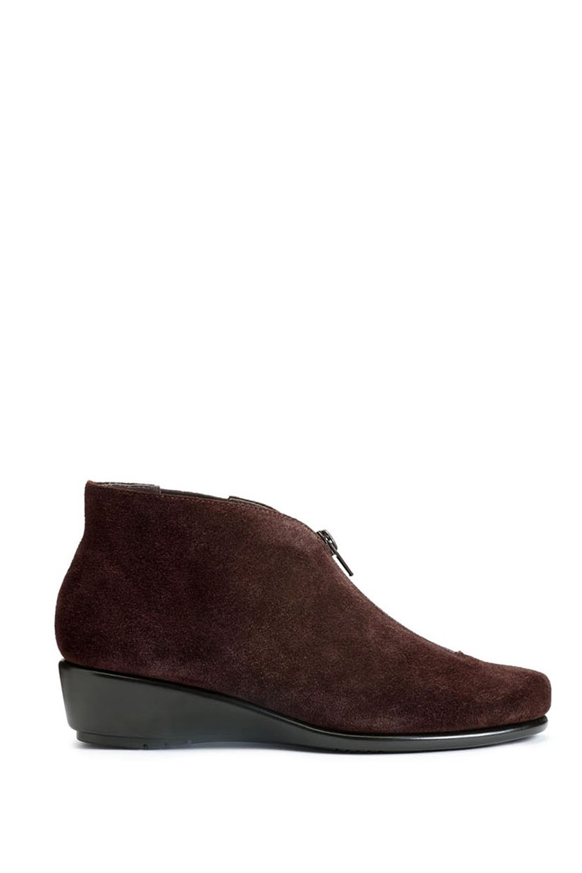 Women's High Cut Ankle Boot Shoes, Brown