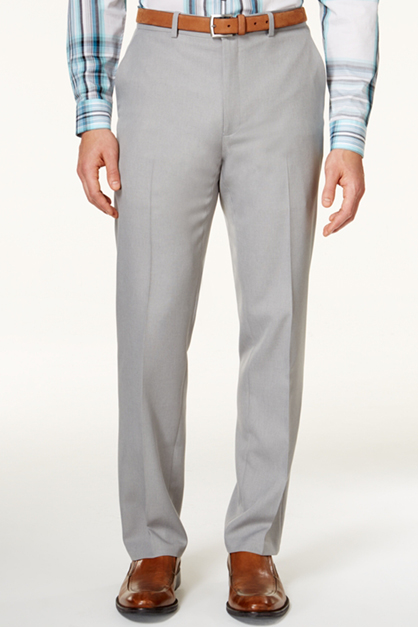 Men's Light Grey Dress Pants, Grey