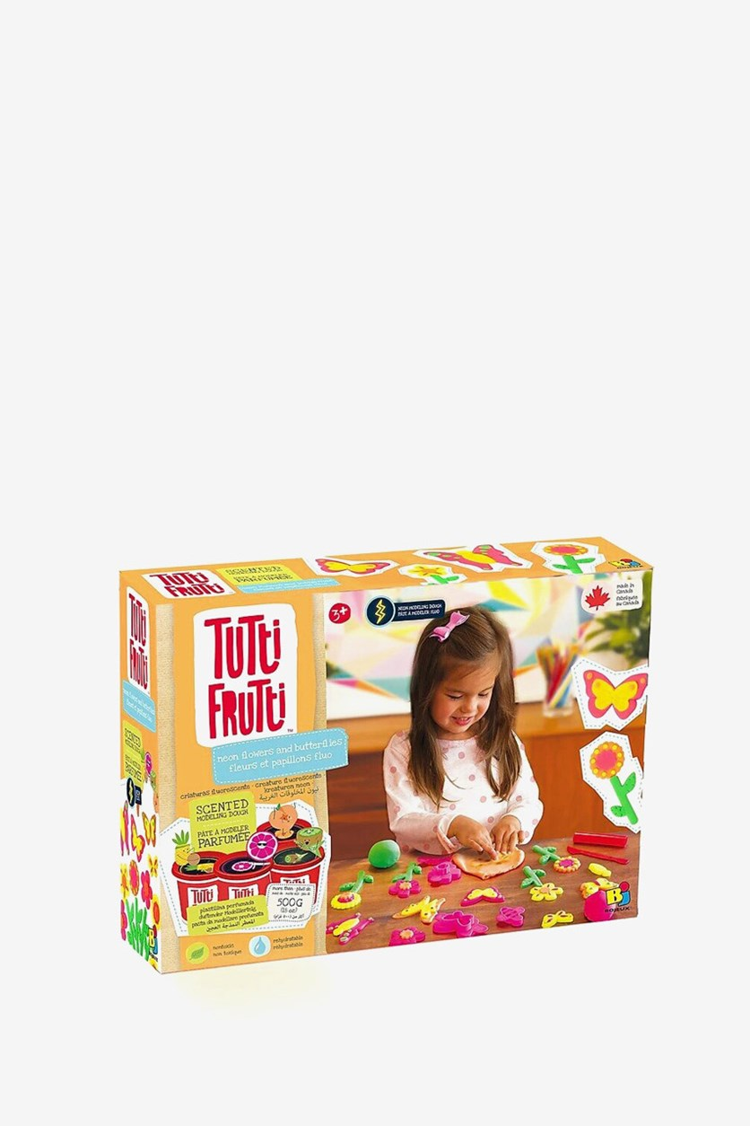 Tutti Frutti Neon Flowers And Butterflies Scented modeling Dough, Neon Combo