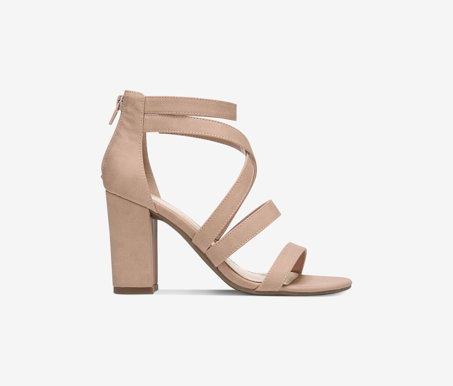 Womens Blythe Strappy Dress Sandals, Pink Blush