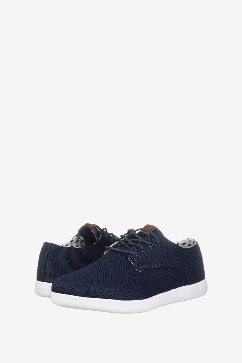 Men's Parnell Oxford  Lace Up Casual Shoes, Blue Mesh