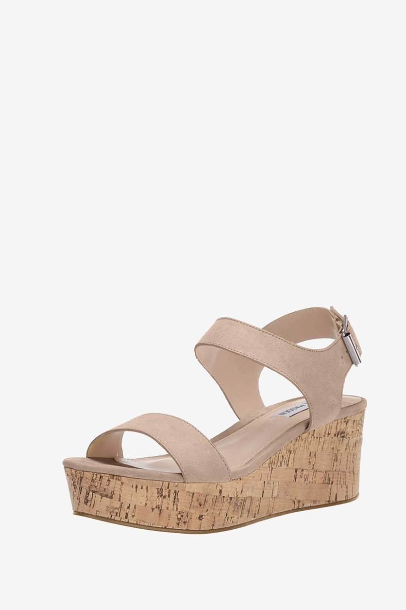 Women's Breathe Wedge Sandal, Nude
