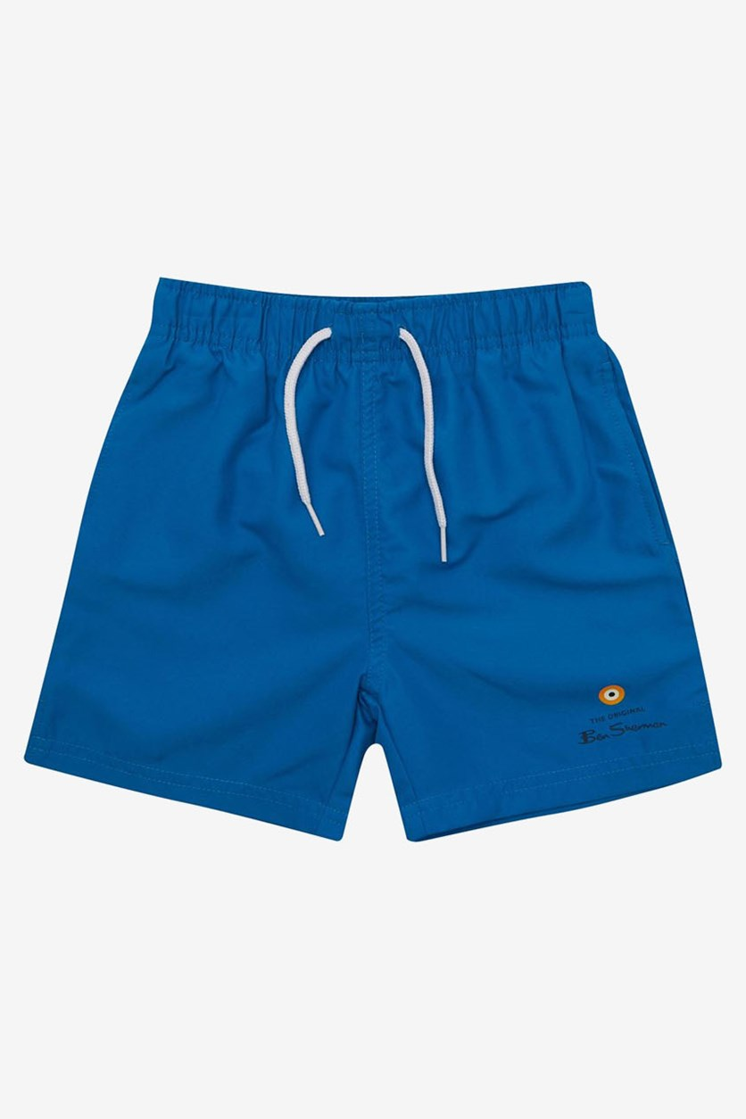 Boy's Target Swim Short, Imperial Blue