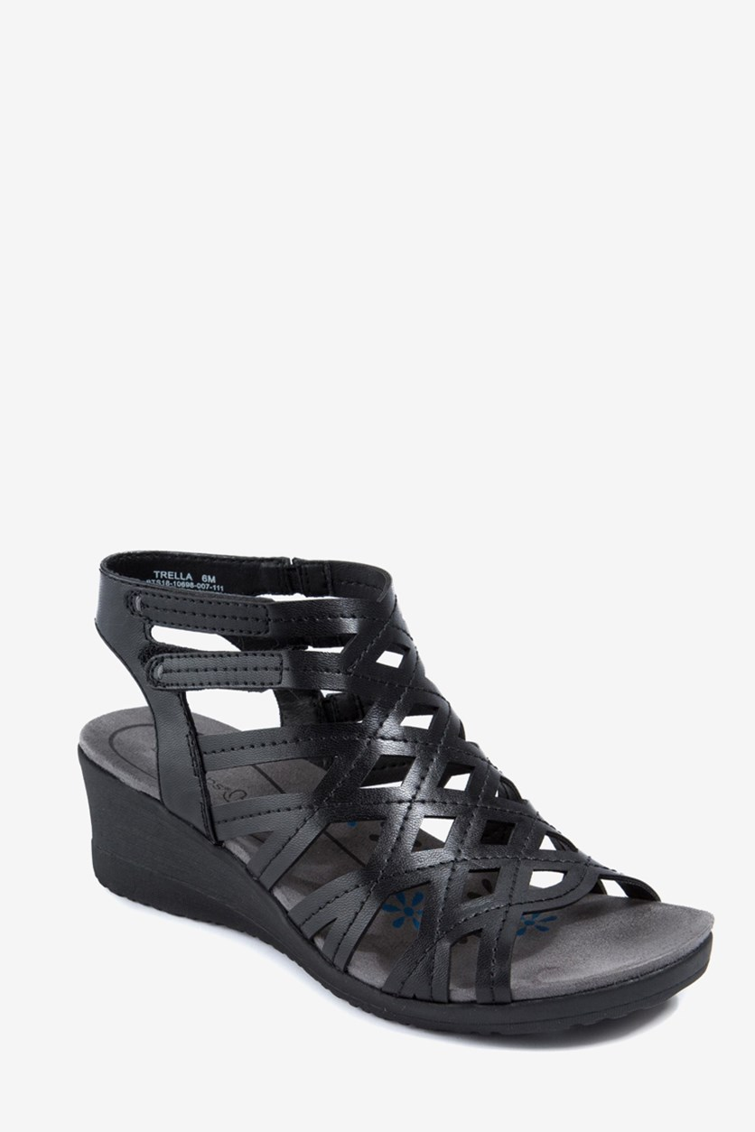 Women's Trella Wedge Sandals, Black