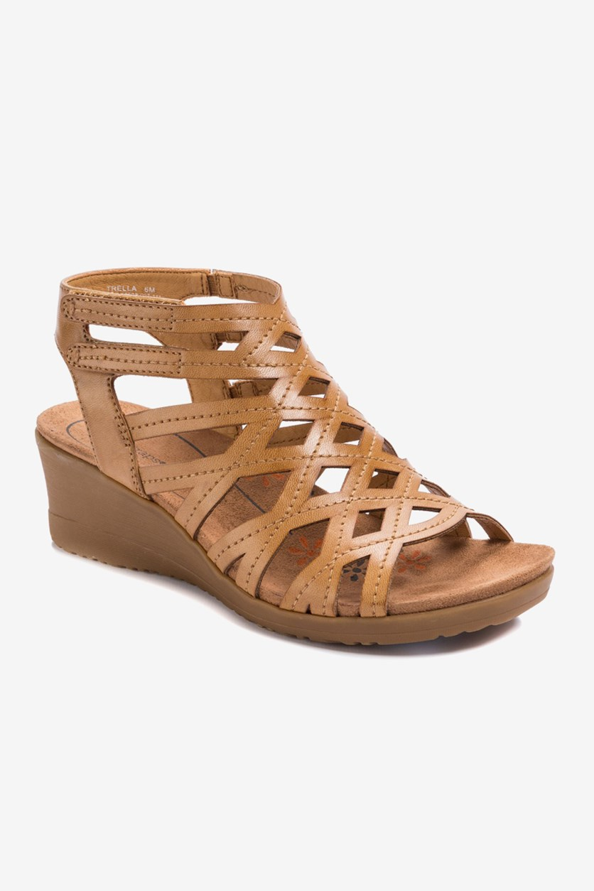 Women's Gladiator Wedge Sandals, Tan