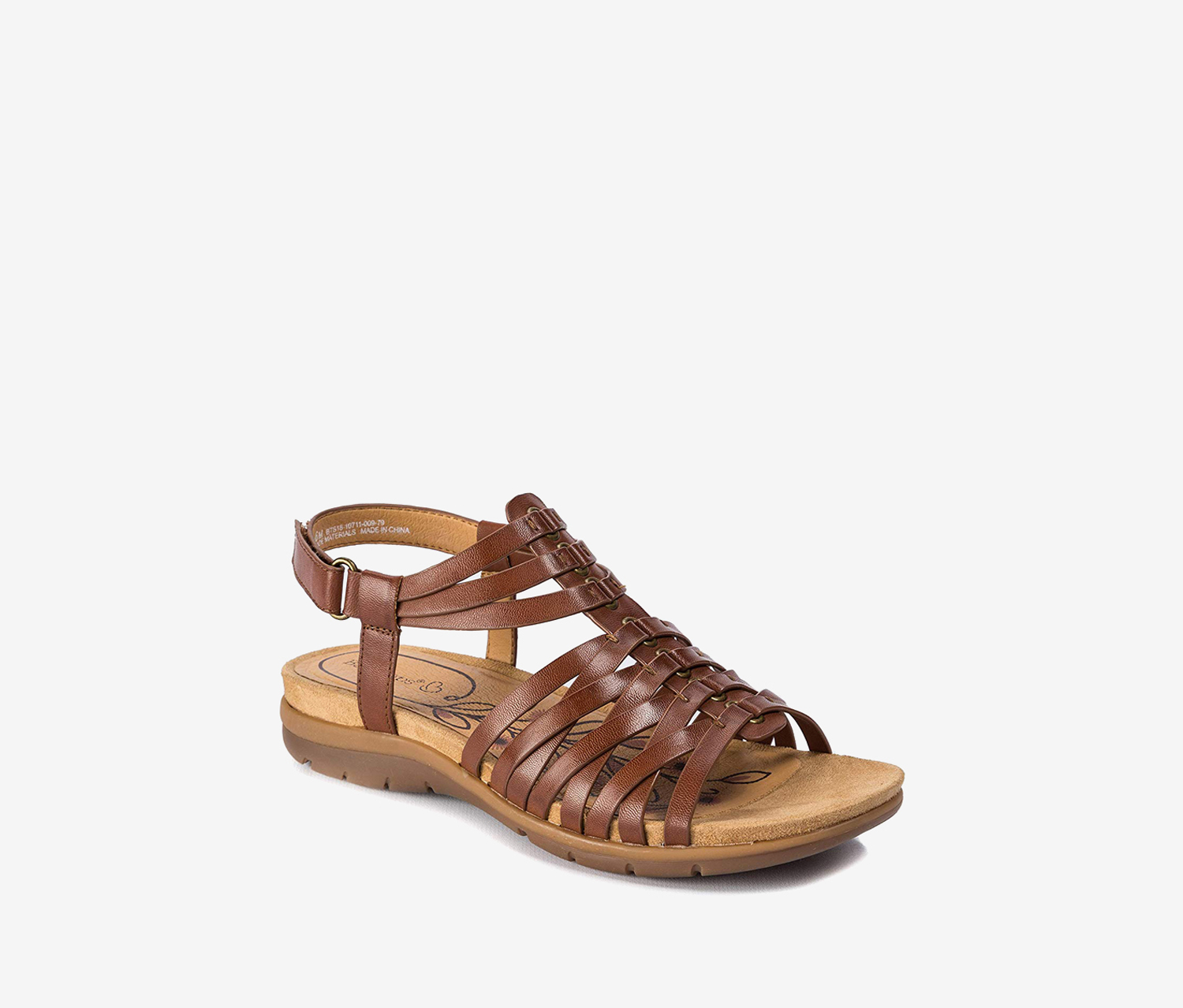 Womens Kirstey Open Toe Beach Ankle Strap Sandals, Brown