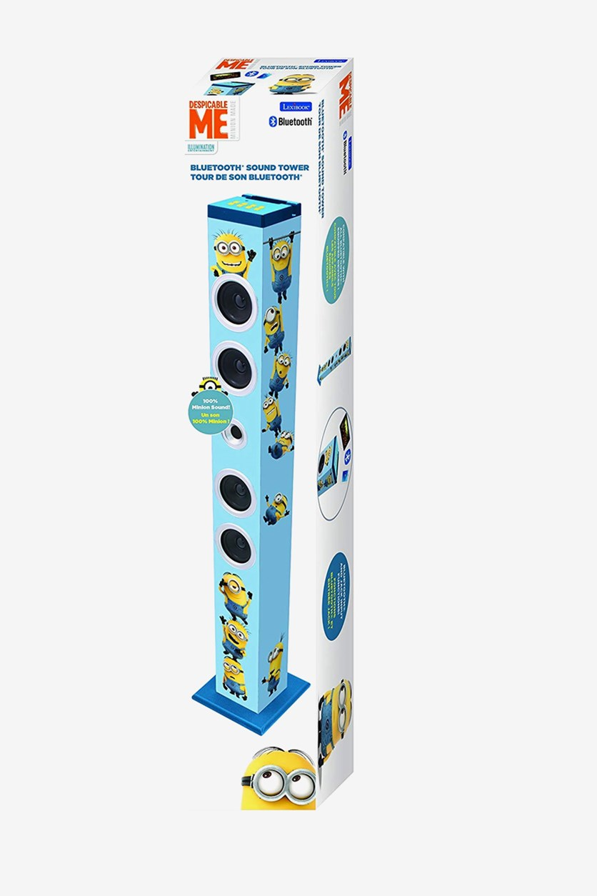 Despicable Me Bluetooth Sound Tower, White/Blue
