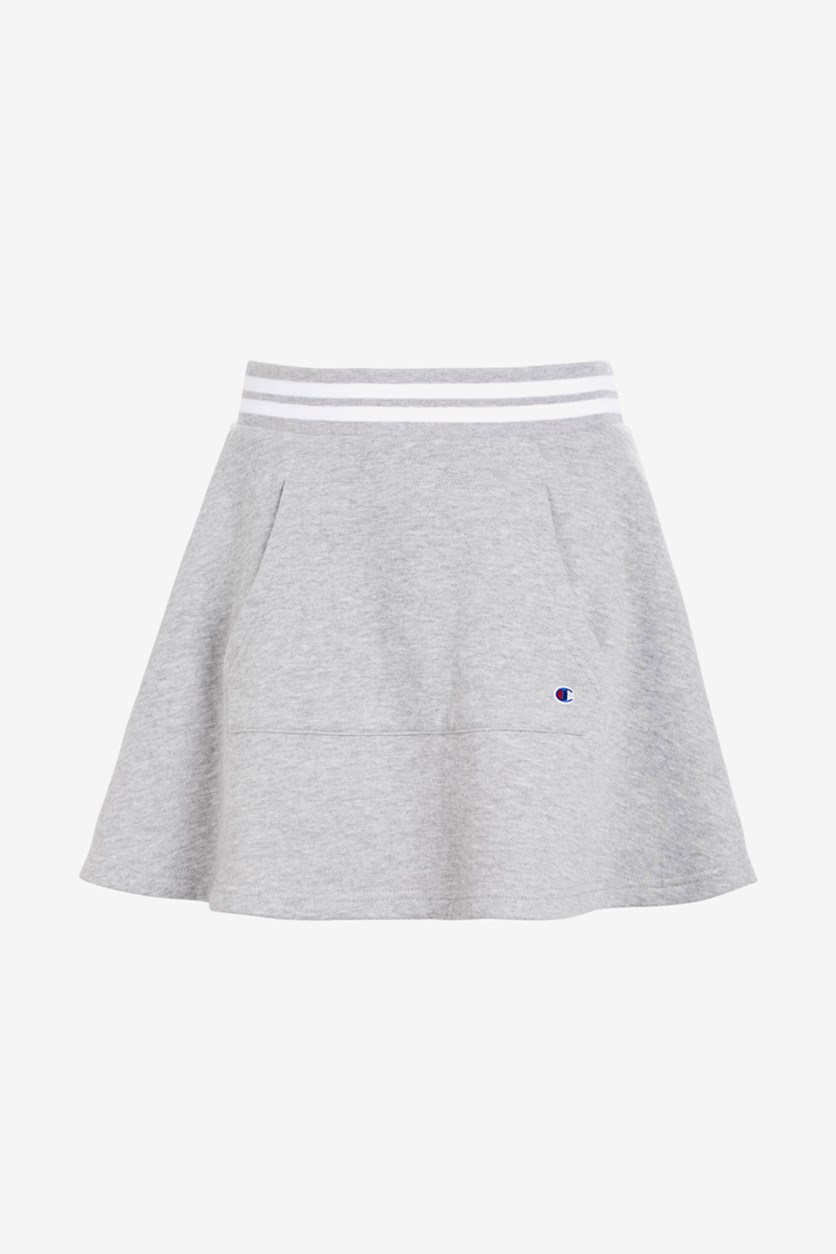 Toddlers Girls Pocket Skirt, Gray