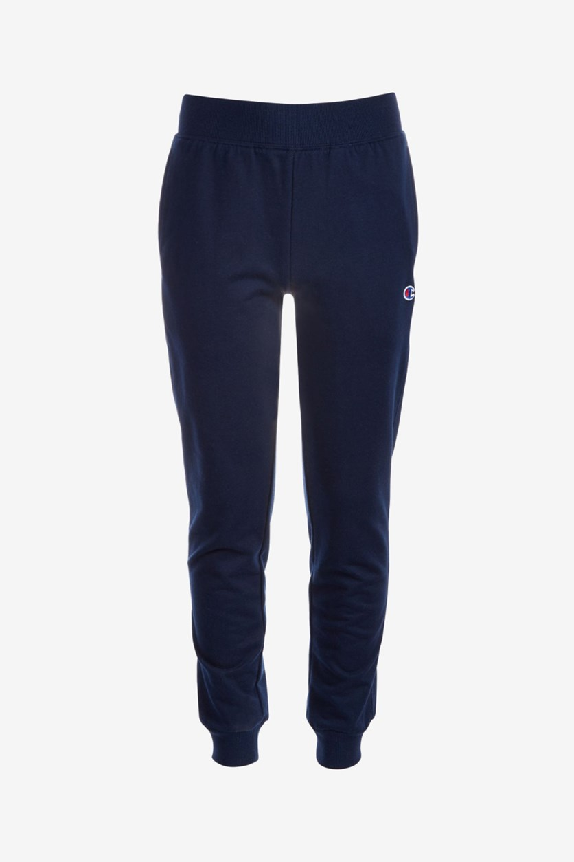 Little Boys French Terry Jogger Pants, Navy Blue
