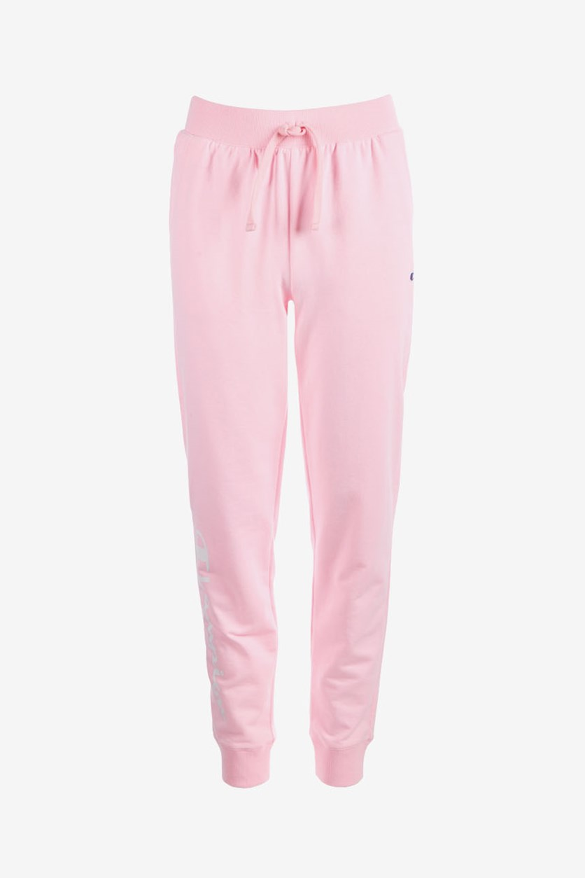 Big Girls French Terry Logo Jogger Pants, Pink Candy