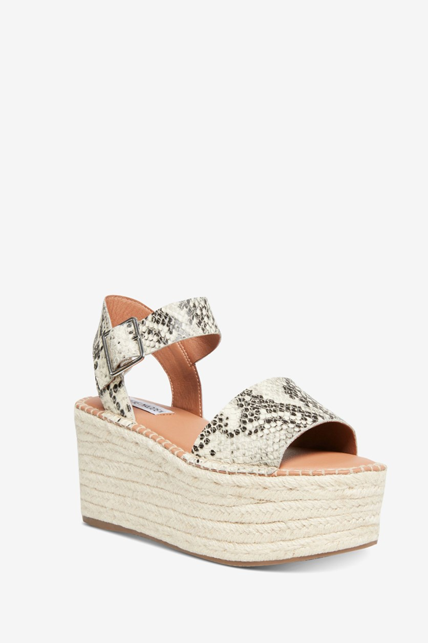 Women's Cabo Wedge Sandals, Natural Snake