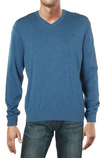 Men's Classic V-Neck Sweater, Blue