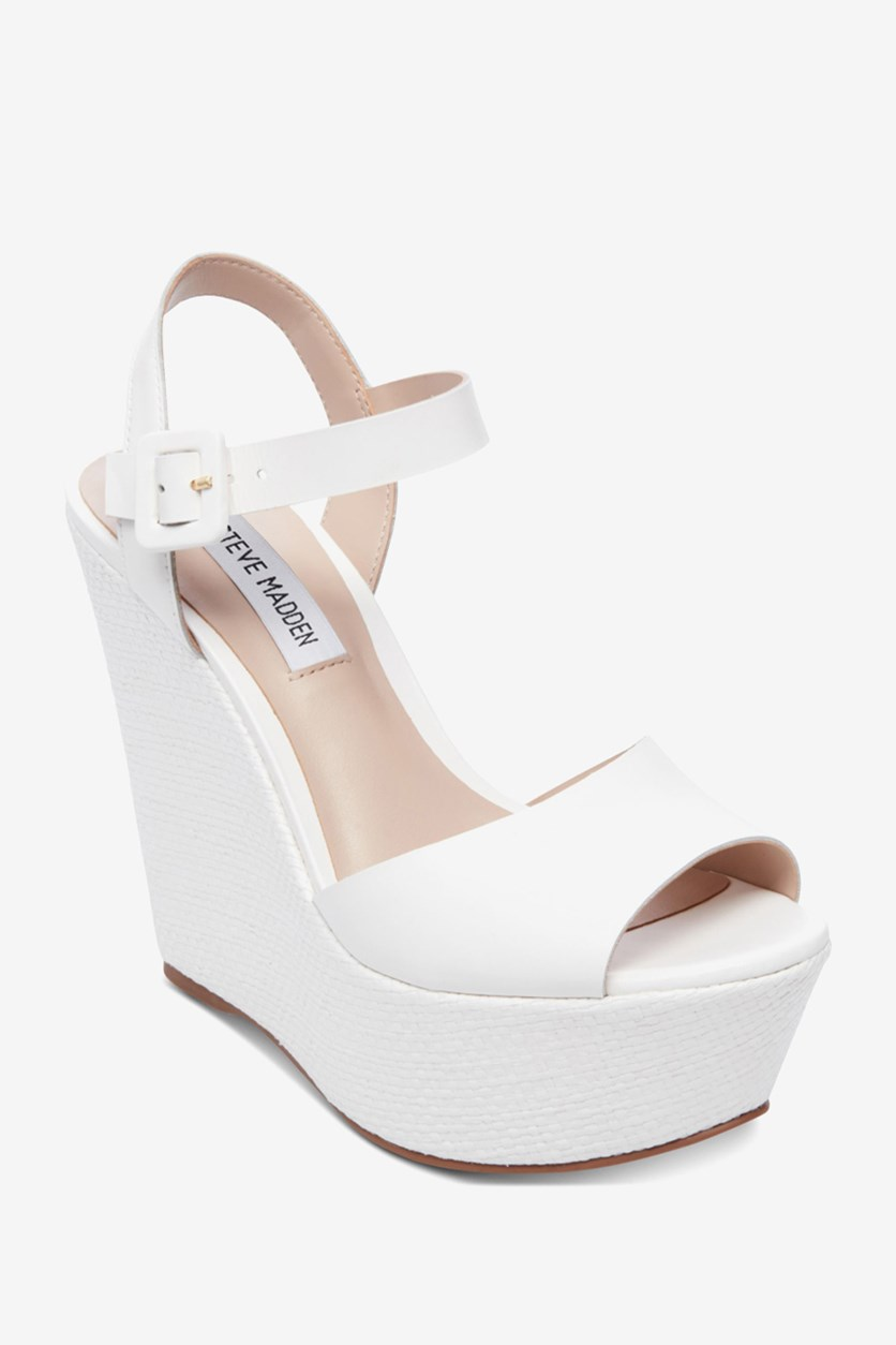 Women's Citrus Platform Wedge Sandal, White