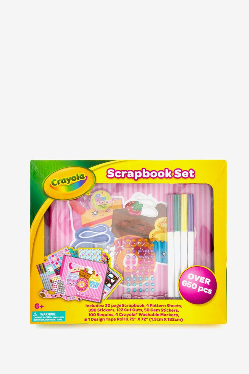 Scrapbook Set, Yellow/Pink