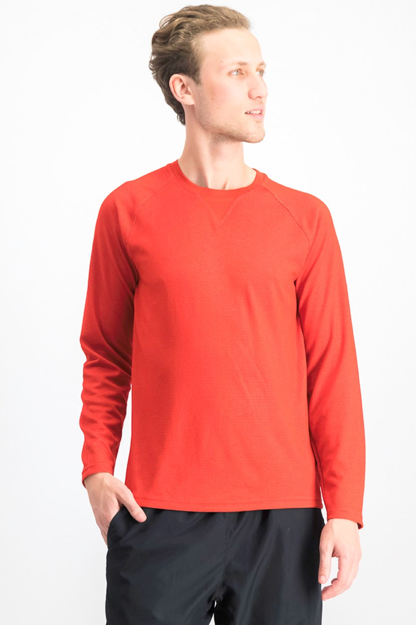 Men's Long Sleeve Top, Red