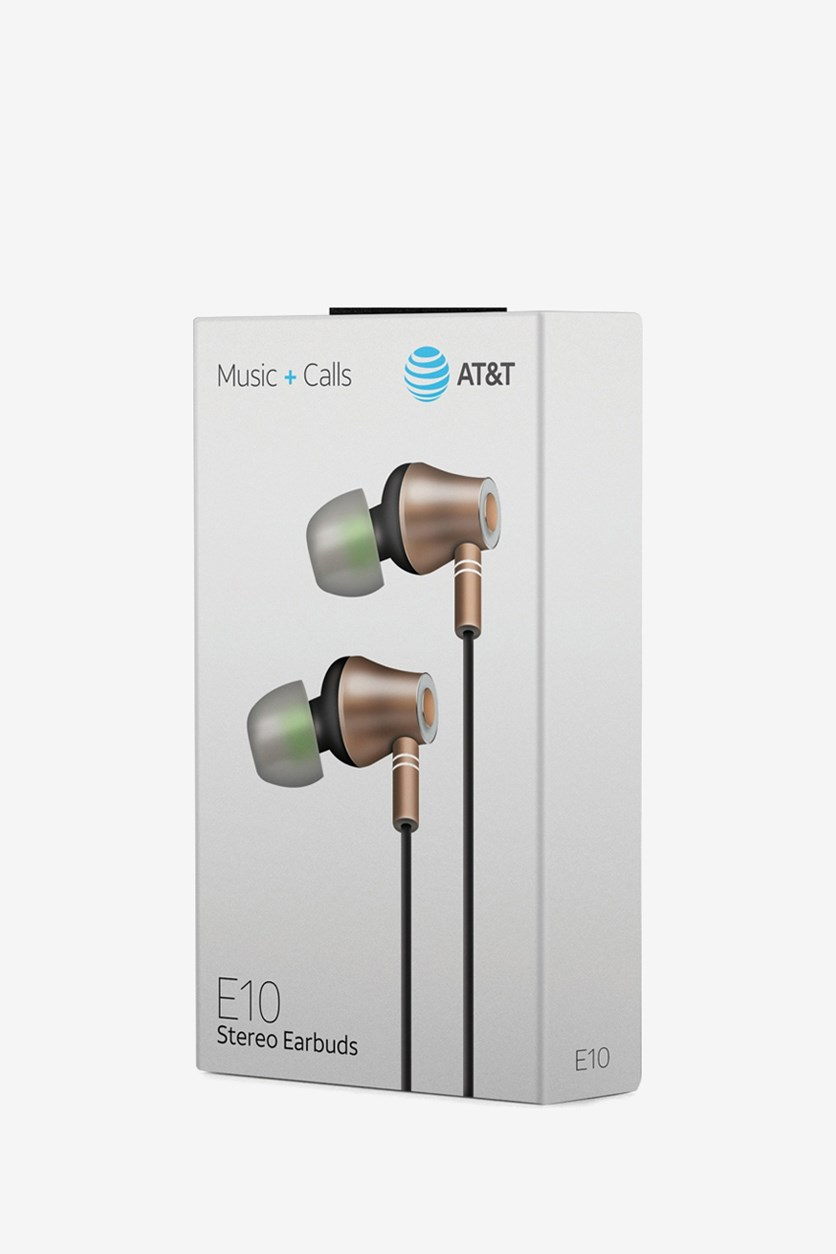 E10 Stereo Earbuds, Gold Combo