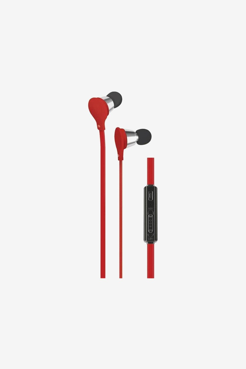 Jive Noise Isolating Earbuds with Microphone & Volume Control, Red