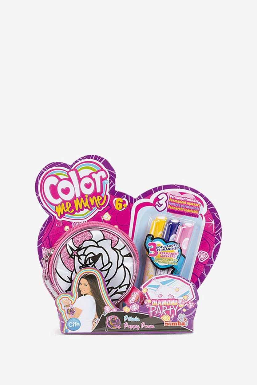 Color Me Mine Diamond Party Puppy Purse, Pink Combo