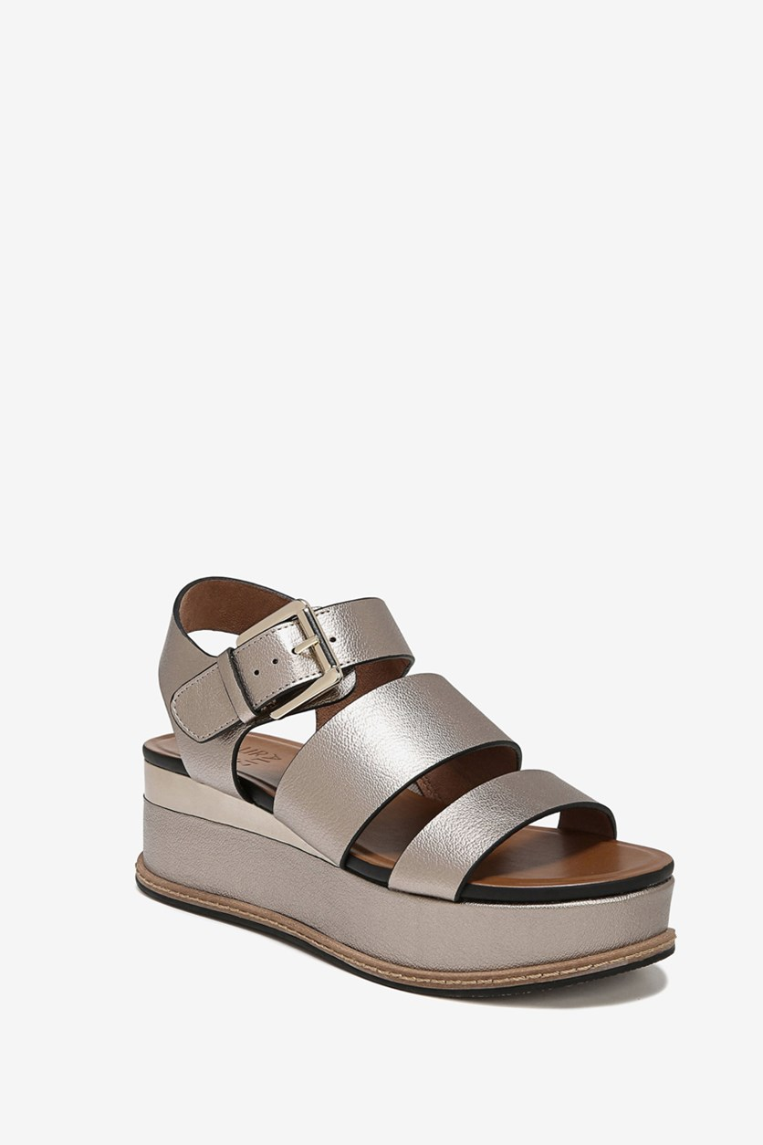 Women's Billie Strappy Sandal, Light Bronze