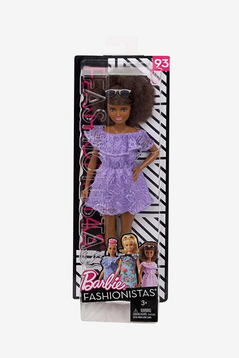Barbie Fashionistas Living Lace Doll, Purple/Brown