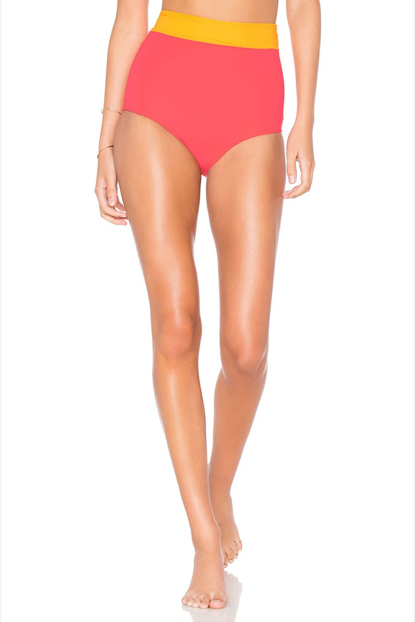 Women's Arden Bikini Bottom, Strawberry/Tangerine