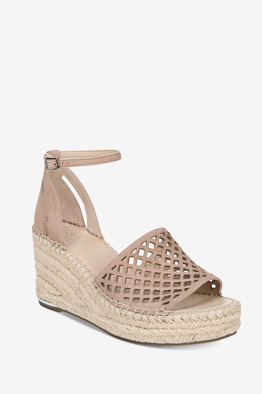 Women's Calabria Wedge Sandals, Peach