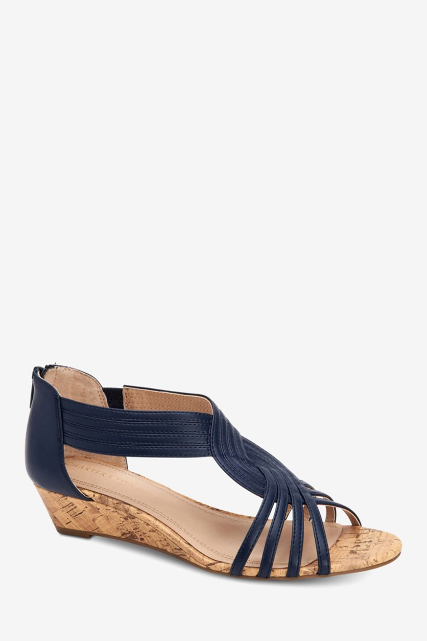 Womens Ginifur Wedge Sandals, Navy