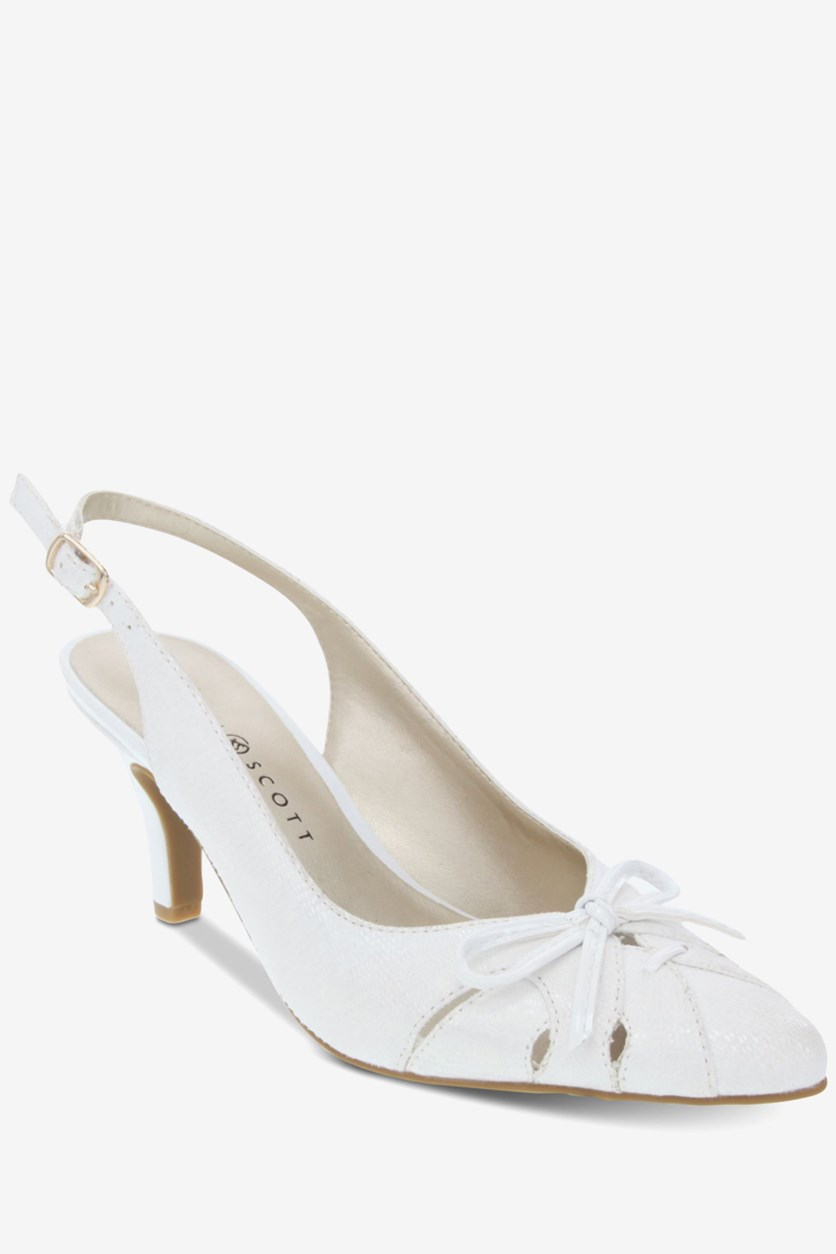 Women's Glenna Slingback Pumps, White