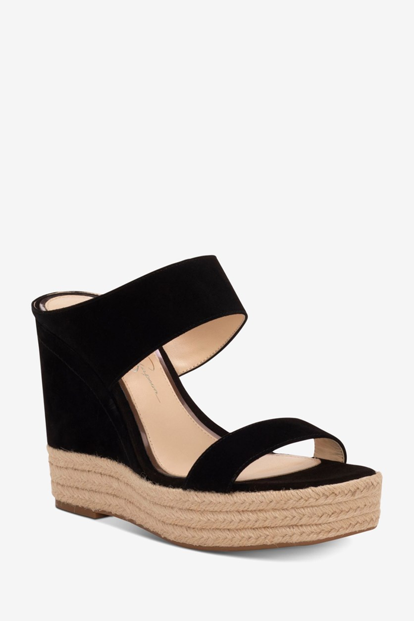 Women's Siera Wedge Sandals, Black