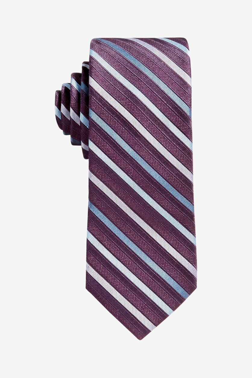 Kids Boys Gemstone Zip Stripe Tie, Plum