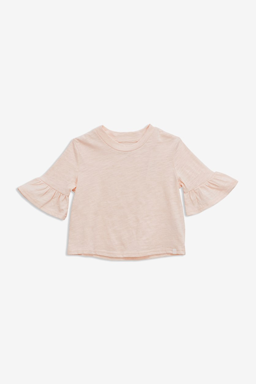 Girl's Bell Sleeve Top, Pink