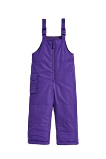 Girls Ski Bib Pants, Purple
