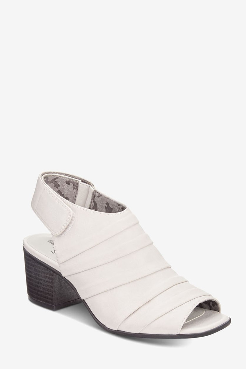 Women's Ladue Peep Toe Sandal, Off White Nappa