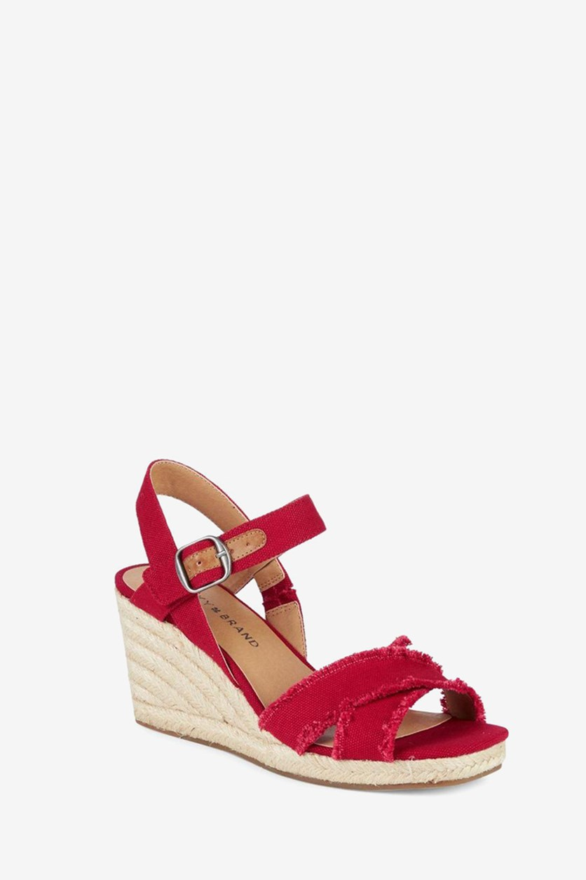 Womens Margaline Wedge Sandals, Red