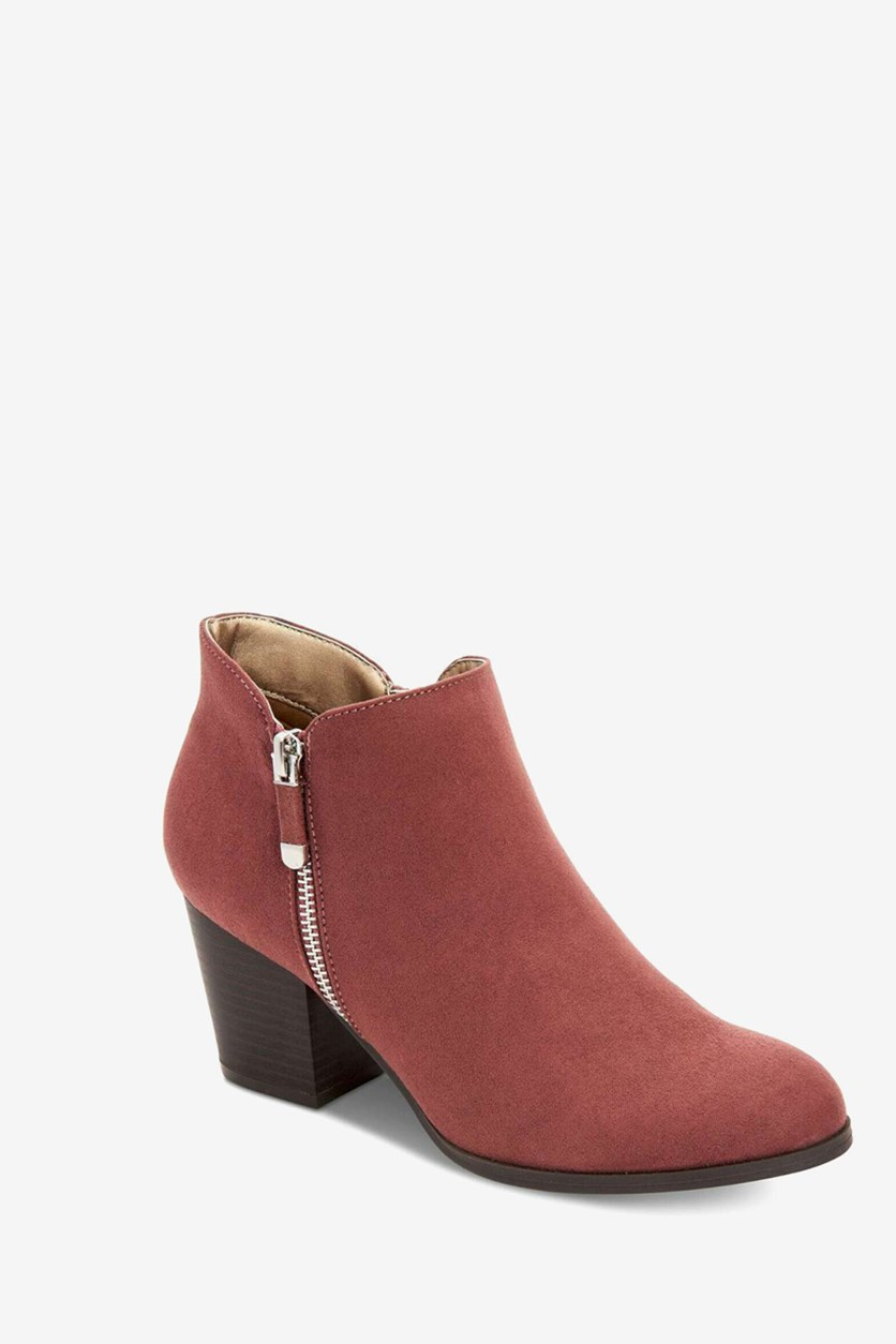 Women's Ankle Suede Boots, Masrinaaf Blushy