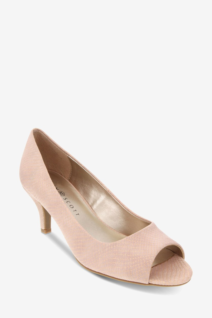 Women's Mory Peep-Toe Pumps, Pink