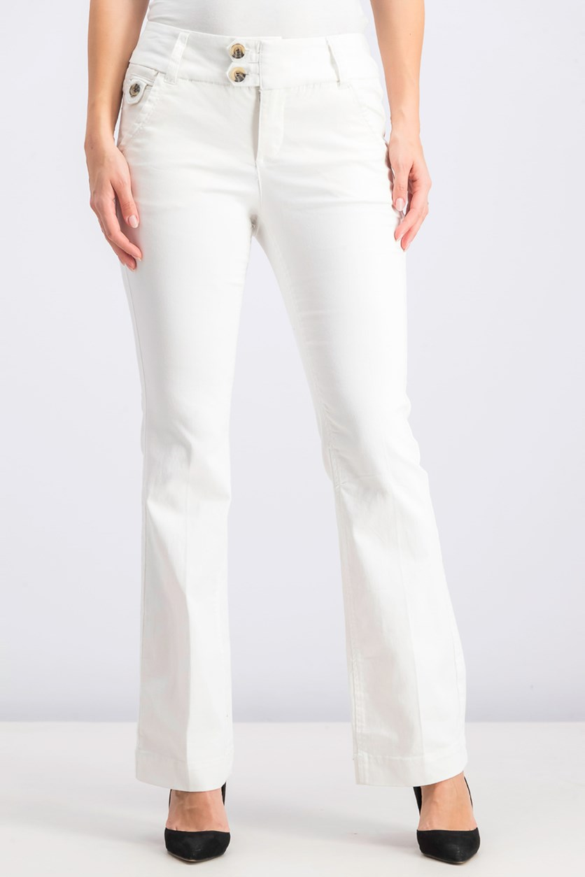 Women's Five Pocket Trouser Pants, White