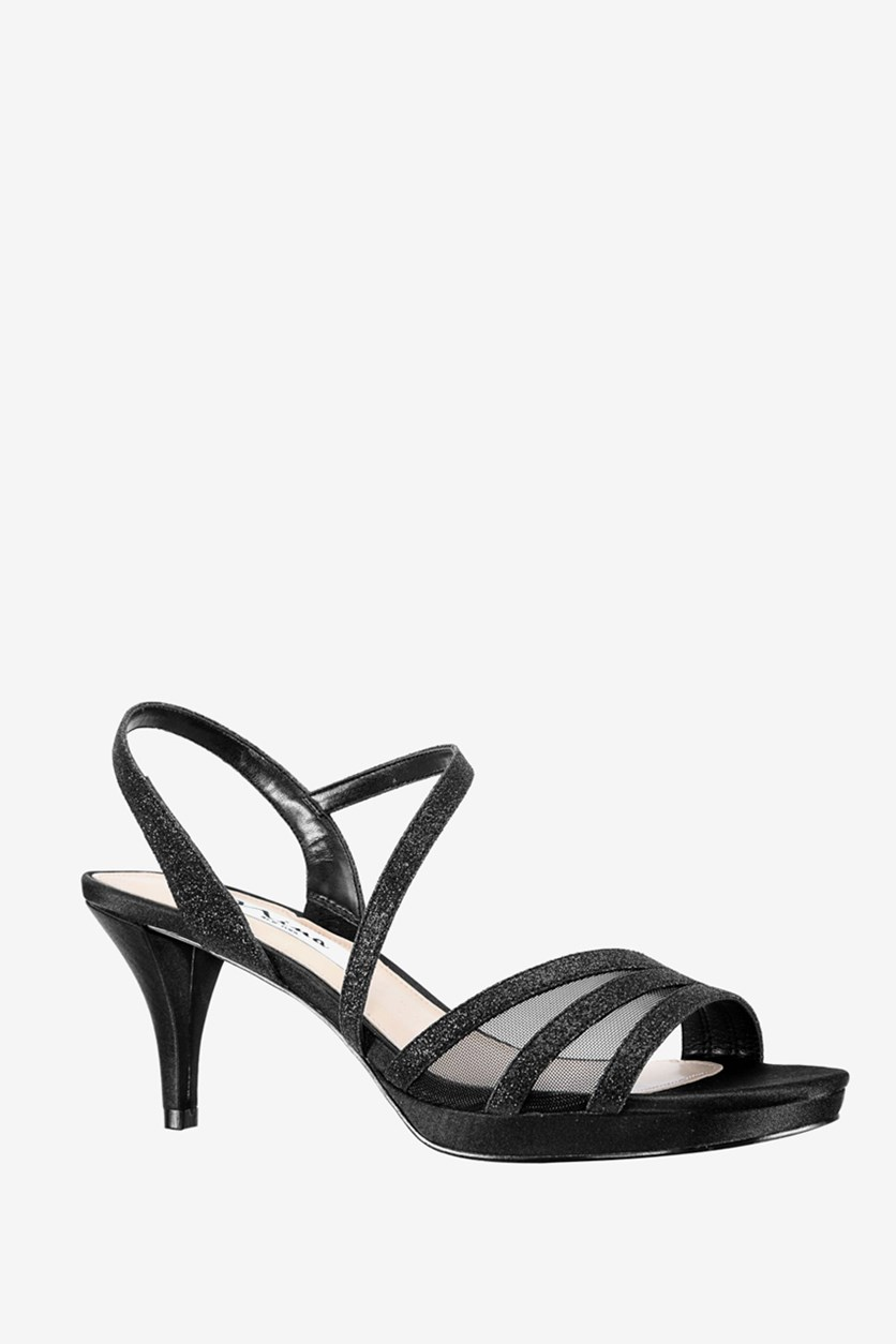 Women's Nazima Open Toe Slingback Sandals, Black