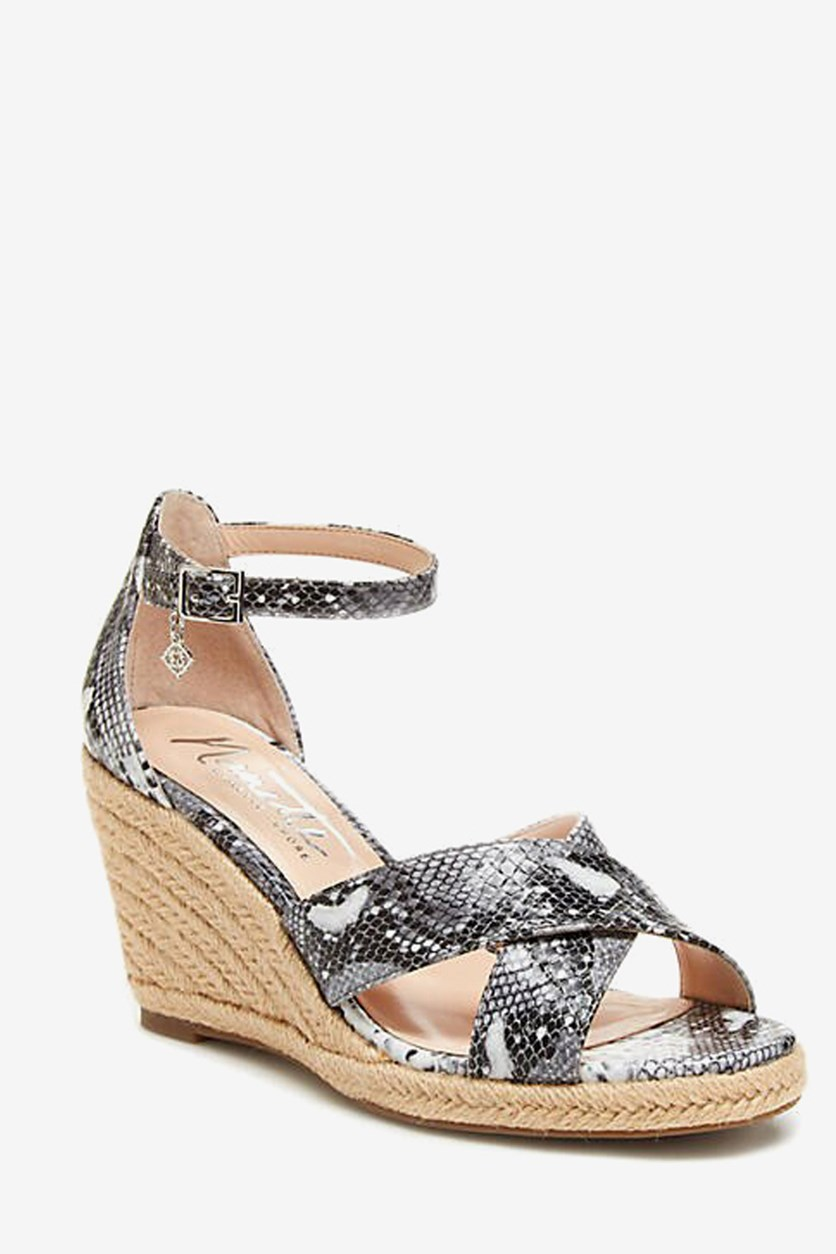 Womens Quirky Wedge Sandals, Grey