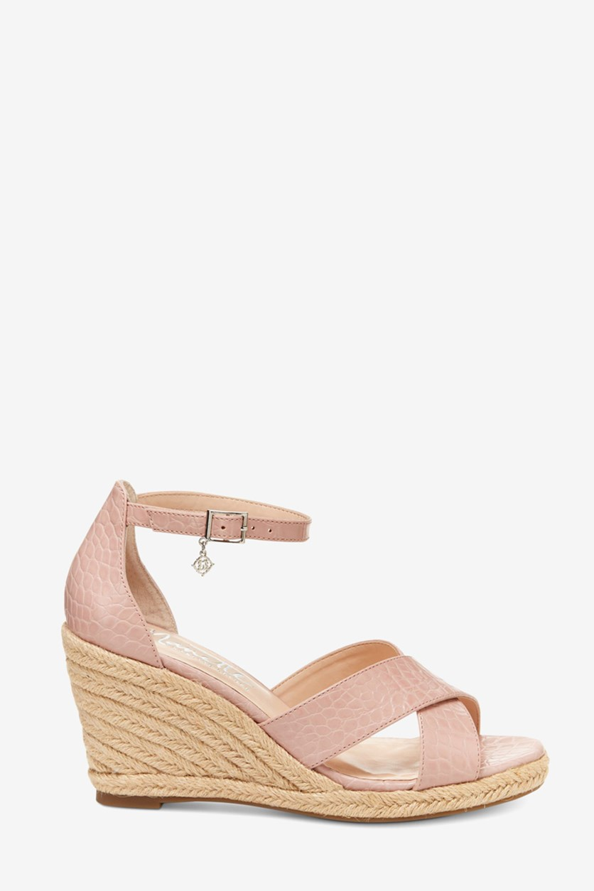 Women's Lepore Quirky Wedge Sandals, Blush