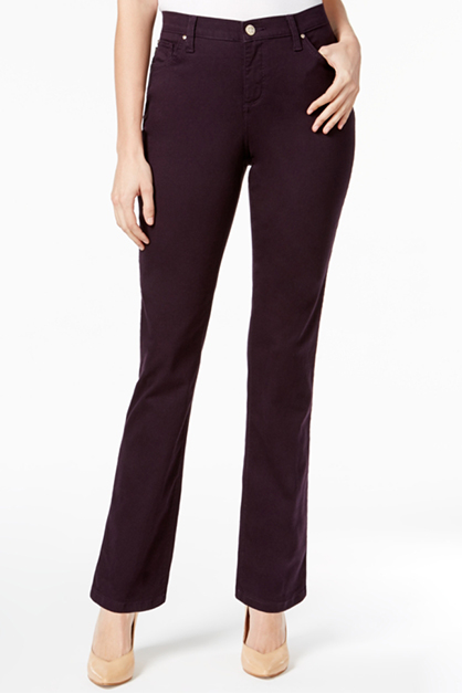 Women's Petite Gwen Straight-Leg Jeans, Dark Purple