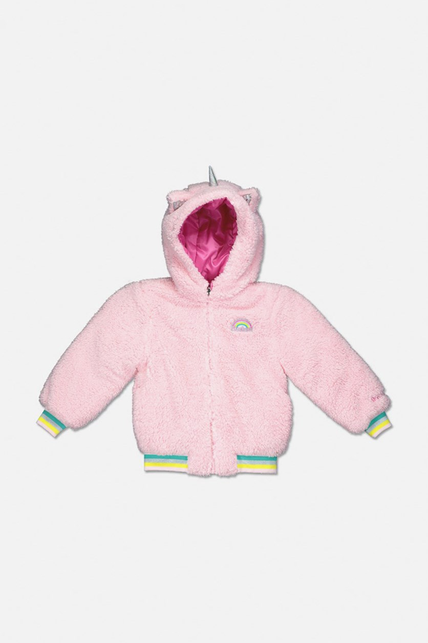 Girl's Hooded Winter Jacket, Pink