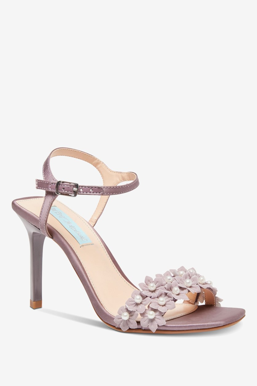 Women's Snow Heeled Sandals, Dusty Lilac